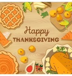 Thanksgiving Day Autumn vector image