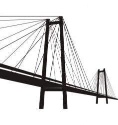 cable suspension bridge vector image vector image