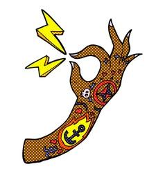 Comic cartoon tattoo arm symbol vector