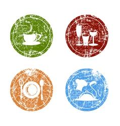 Grunge Food Labels vector image
