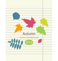 Hand drawing autumn leaf vector image vector image