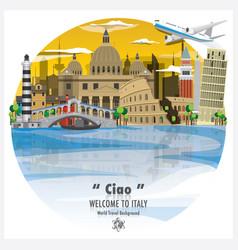 italian republic landmark global travel and vector image