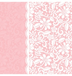 lace background with border vector image vector image