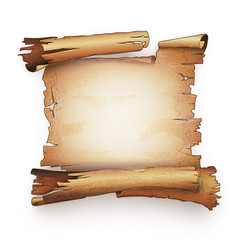 old paper scroll antique vector image
