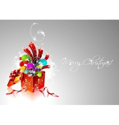 christmas with magic gift box vector image