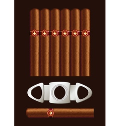 cigars and guillotine vector image vector image