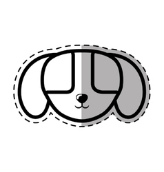 face puppy domestic mammal dot line shadow vector image vector image