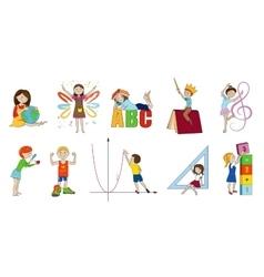School subjects cartoon vector image vector image