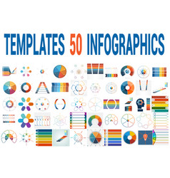 50 templates for infographics for six positions vector