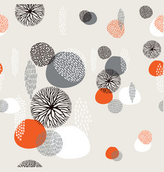 abstract boho hand drawn seamless pattern vector image