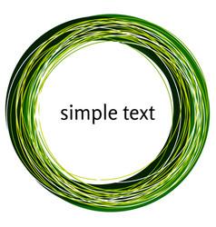 abstract green swirl shape vector image