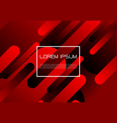 abstract red black geometric dynamic shapes vector image