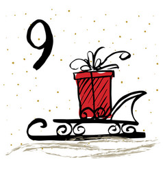 advent calendar or cards vector image