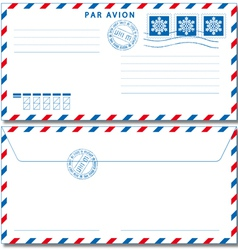 Airmail envelope eps10 vector image