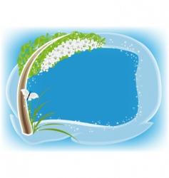 apple tree flowering frame vector image