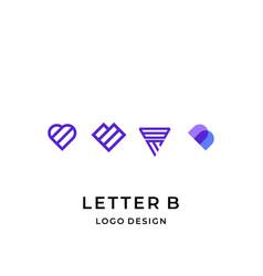 B love logo vector