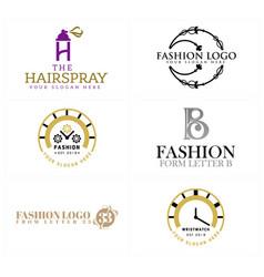 Beauty fashion retail store logo design vector