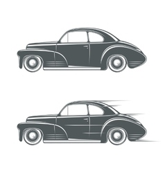 Black and white classic car icon vector image