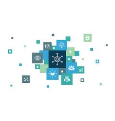 Business model infographic 10 steps pixel design vector