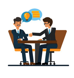 Business negotiations businessmen shaking hands vector