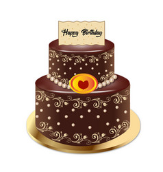 Cake chocolate vector
