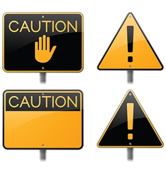 Caution and Warning Signs vector