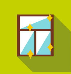 Clean window icon flat style vector