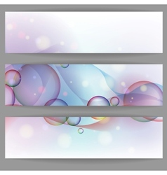 Colorful Glowing Bubbles Banner vector image