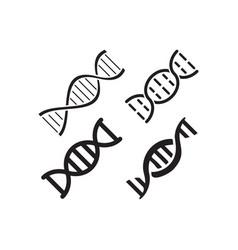 dna science icon design set bundle template vector image