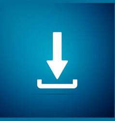 download icon upload button load symbol vector image