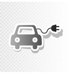 Eco electric car sign new year blackish vector