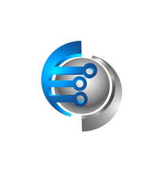 Eco lightning electric company logo lightning vector