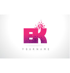 ek e k letter logo with pink purple color and vector image