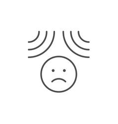 emotional pressure line outline icon vector image