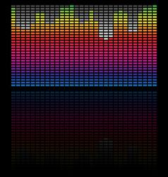 Eq equalizer bars rectangular equalizer graphic vector