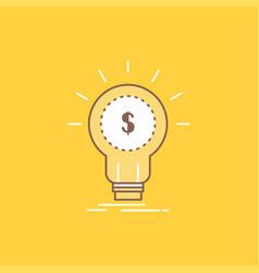 finance financial idea money startup flat line vector image