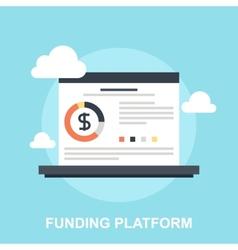 Funding Platform vector