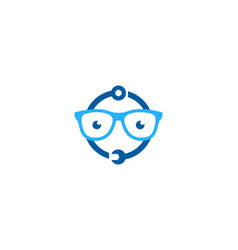 Geek fix and repair logo icon design vector