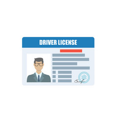 Hand holds a driver license indification card vector