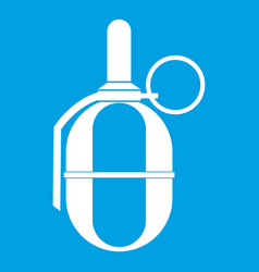 Hand paintball grenade icon white vector