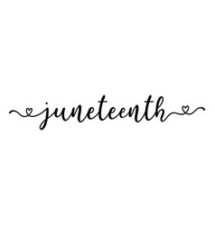 hand sketched juneteenth word as banner lettering vector image