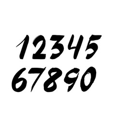 handwritten numbers isolated on white background vector image