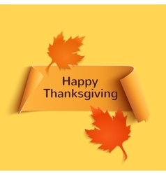 happy thanksgiving yellow curved banner vector image