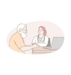 Healthcare industry health examination doctor vector