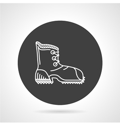 Hiking shoe black round icon vector image