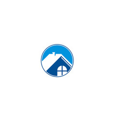home icon roof business logo vector image