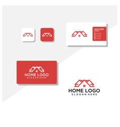 Home logo and business card vector