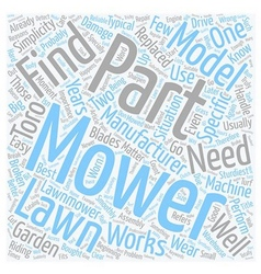 How To Find Parts For Lawn Mowers text background vector image vector image