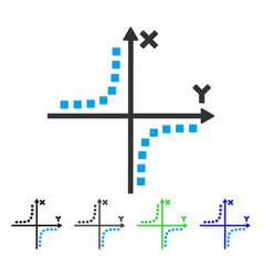 Hyperbola plot flat icon vector