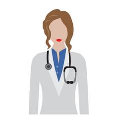 Isolated female doctor avatar vector